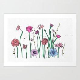 SPRING FLOWERS IN BLOOM Art Print