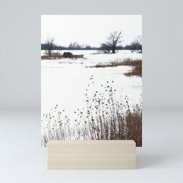 Winter in the wetlands Mini Art Print