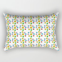 Circle and abstraction 6-,abstract,geometric,geometrical,circle,sphere Rectangular Pillow