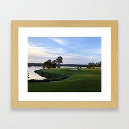 Sun on the Green Framed Art Print