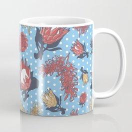 Australian Native Flowers - Grevillea and Protea Coffee Mug
