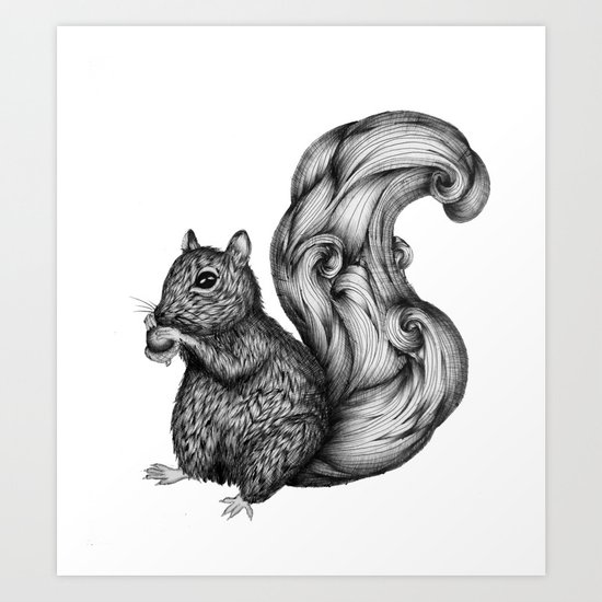 Nuts for a Friend Art Print