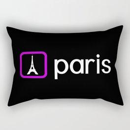 Eiffel Tower, Paris (Purple) Rectangular Pillow