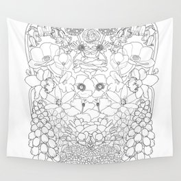 Mirrored Flowers Wall Tapestry