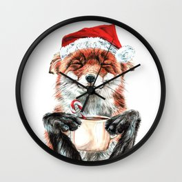 Morning Fox Christmas Wall Clock