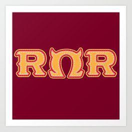 Monster University Fraternity : Roar Omega Roar Art Print