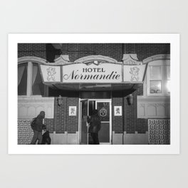 Hotel Normandie Art Print