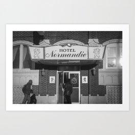 Hotel Normandie Art Print