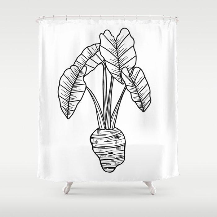UrbanNesian Taro Shower Curtain