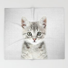 Kitten - Colorful Throw Blanket