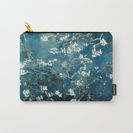 Van Gogh Almond Blossoms : Dark Teal Carry-All Pouch