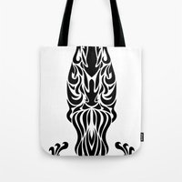 aquarius Tote Bags featuring Aquarius by Mario Sayavedra