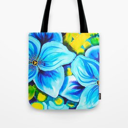 Blue Poppies 3 Tote Bag