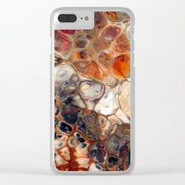 Earth Tones Granite Lava Flow Cells Clear iPhone Case