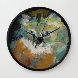 Himalayan Cat Wall Clock