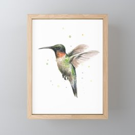 Hummingbird Watercolor Framed Mini Art Print