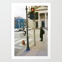 Bicycle and Friends - Denmark Art Print