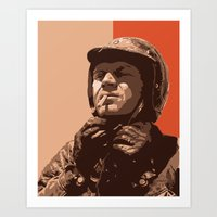 steve mcqueen Art Prints featuring S McQueen by Rich Lee