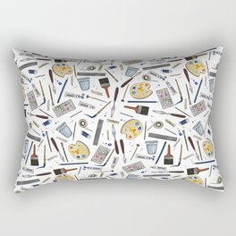 Painter's Supplies - Clear Rectangular Pillow