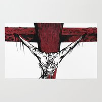jesus Area & Throw Rugs featuring Jesus by Robert Cooper