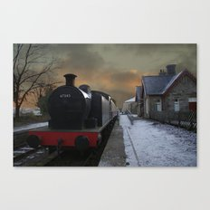 The Train Is In The Station Canvas Print