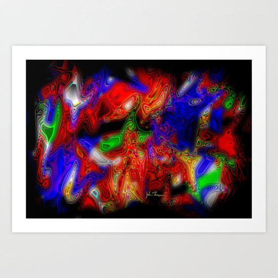 Psych out Art Print