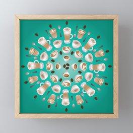Coffee Kaleidoscope Framed Mini Art Print