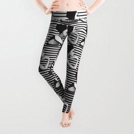 Black and White Female Leggings