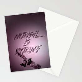Normal Is Boring Stationery Cards