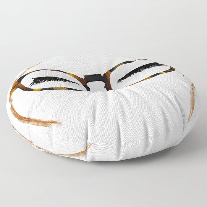 Tortoiseshell Glasses Red Floor Pillow