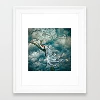 sleep Framed Art Prints featuring Sleep by Spoken in Red