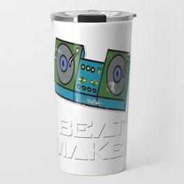 Retro Vinyl DJ Gift Music Djane Old school deejay new beat maker Travel Mug