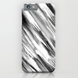 Black and White Painted Tie Dye Multi Media Cool Texture Trending Popular Modern iPhone Case
