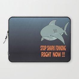 Stop shark finning Laptop Sleeve