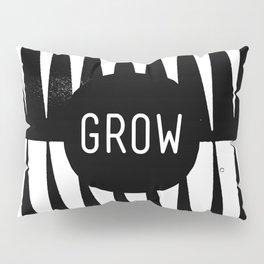 Black and White Grass (Customizable Label) Pillow Sham