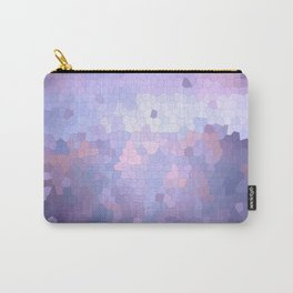 Abstract Stained glass violet mosaic Carry-All Pouch