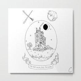 Wizard House Design Metal Print