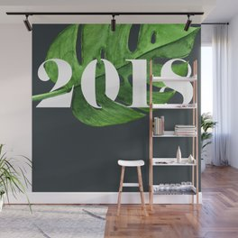 2018 gray palm Wall Mural