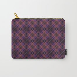 Black and Burgundy plaid Carry-All Pouch