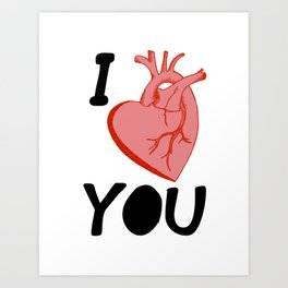 I Love You (white) Art Print