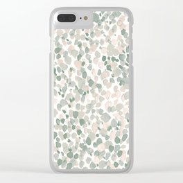 Lighthearted Flamingo Green Clear iPhone Case
