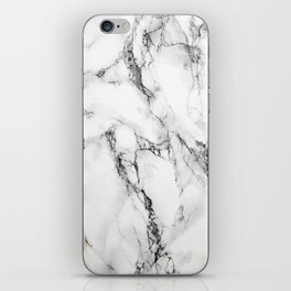 White Marble Texture iPhone Skin