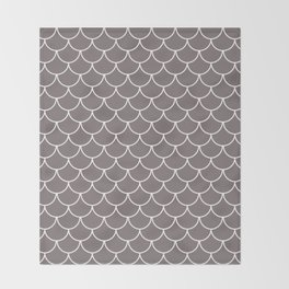 Warm Gray Scales Throw Blanket