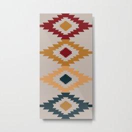 American Native Pattern No. 211 Metal Print