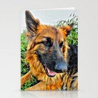 megan lara Stationery Cards featuring Dog Lara by itsme23