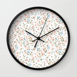 vintage dainty floral Wall Clock