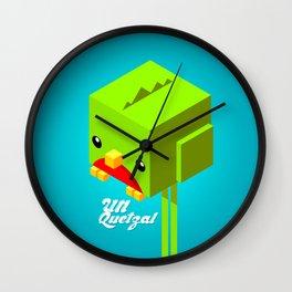 Un Quetzal 3D Wall Clock