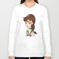 sailor jupiter Long Sleeve T-shirts featuring Lady Sailor Jupiter by Pendientera