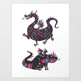 Cute Dragons Art Print