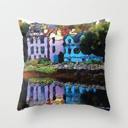Embossed Countryside Throw Pillow
